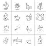 Prevenzione delle icone delle malattie royalty illustrazione gratis