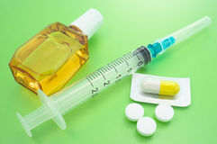 Prevenzione di raffreddore da fieno. Fotografia Stock Libera da Diritti
