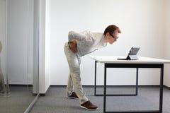 Prevenzione nel lavoro d'ufficio, esercizi Fotografie Stock