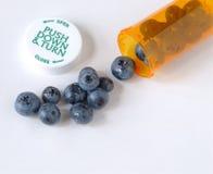 Prevenzione sana del mirtillo Fotografia Stock Libera da Diritti