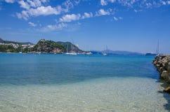 Prevesa, Epiro, Grecia - spiaggia di Valtos - Parga fotografie stock libere da diritti