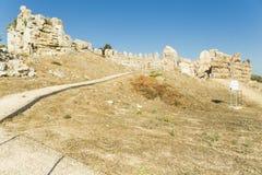 Preveza antyczny rzymski teatr w antycznych nikopolis Greece fotografia royalty free