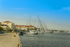 Preveza city greece. Preveza city port, summer , Greece Royalty Free Stock Images