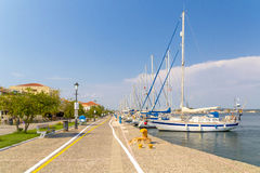 Preveza city port greece. Preveza city port  summer colors in Greece Royalty Free Stock Photos