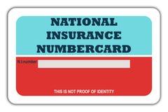 Previdenza sociale Numbercard Fotografie Stock