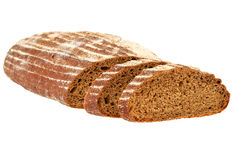 Preview bread loaf on white background Stock Photos
