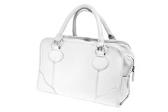 Preview ladies fashionable white leather handbag Royalty Free Stock Images