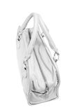 Preview ladies fashionable white leather handbag Royalty Free Stock Photo