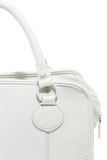 Preview ladies fashionable white leather handbag Stock Image
