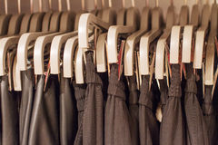 Preview ladies skirts hanging on display Stock Photo