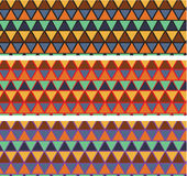 Preview Mosaic tiles of various colors abstract architectural. Set of 3 in 1 ideas of triangle Mosaic tiles of various colors abstract architectural background Stock Photo