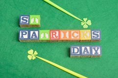 PreviewSave to a lightbox Find Similar St Patrick's day. PreviewSave to a St Patrick's day spelled with colorful alphabet blocks displayed with two four leaf stock image
