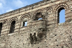 Previous Byzantine palace in Istanbul without restoration Royalty Free Stock Images