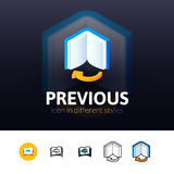 Previous icon in different style Royalty Free Stock Photography