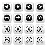 Previous, next arrows  buttons set Stock Photo