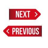 Previous next ribbon sign. Vector Royalty Free Stock Photos