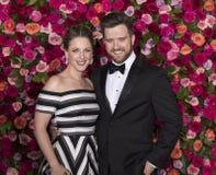 Jessie Mueller and Andrew Truschinski at 2018 Tony Awards Stock Image