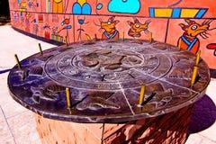 Previsão do zodíaco no termo cultural de Dongba Fotografia de Stock Royalty Free
