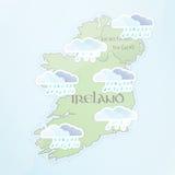 Previsión metereológica irlandesa Foto de archivo libre de regalías