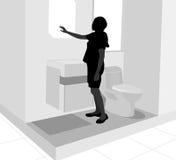 Previsione della toilette immagine stock