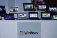 Previsione della versione della finestra 8 Immagini Stock