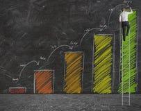 Previsione delle statistiche Immagini Stock