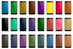 Previsione multicolore dello schermo dell'affissione a cristalli liquidi di Smartphone illustrazione di stock
