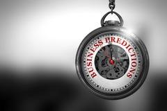 Previsioni di affari sul fronte dell'orologio da tasca illustrazione 3D Immagine Stock