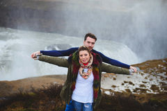 Prewedding Love Story en Islande Photos libres de droits