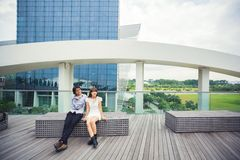Prewedding. Marinabaysand singapore love wedding Stock Photo