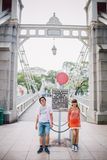Prewedding. Singapore citysobeatiful bridge wedding Stock Images