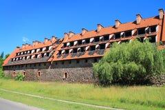 Preysish-Eylau骑士的城堡在晴朗的夏日 库存图片