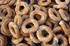 Prezels de Cracovian com as sementes de sal, de papoila e de sésamo Foto de Stock Royalty Free