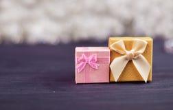 Prezentów świąteczni pudełka dla nowego roku Obraz Stock