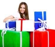 prezentów ładni kobiety potomstwa Fotografia Royalty Free