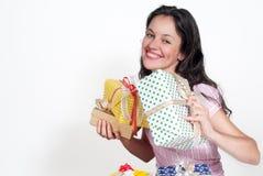 prezentów kobiety potomstwa Zdjęcia Stock