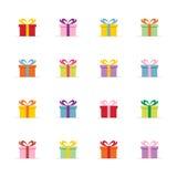 Prezentów kolorowi pudełka Zdjęcie Stock