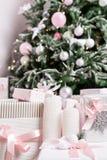 prezentów na święta w pojęcie nowego roku świętowania tło Obraz Royalty Free