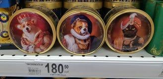 Prezentów pudełka z herbatą w supermarkecie zdjęcia royalty free