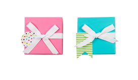 Prezentów pudełka dla wakacji Zdjęcia Royalty Free