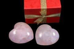 prezentów skrzyniowe serca stone ' a Fotografia Royalty Free