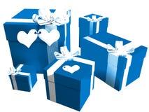prezentów valentines Obrazy Royalty Free