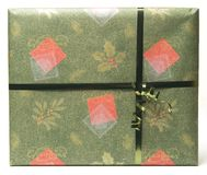 prezent 1 zielona czerwony zdjęcie royalty free