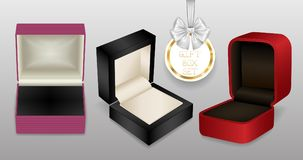 Prezent biżuterii pudełka ilustracja wektor