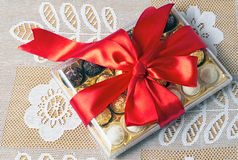 Prezent dla wakacje nowy rok, boże narodzenia, wielkanoc, urodziny, a Zdjęcie Royalty Free