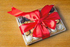 Prezent dla wakacje nowy rok, boże narodzenia, wielkanoc, urodziny, a Fotografia Stock