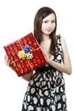 prezent dziewczyna obrazy royalty free