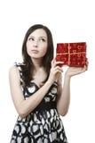 prezent dziewczyna zdjęcie stock