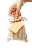 prezent karciana ręka Zdjęcia Royalty Free