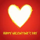 Prezent karta. Walentynka dnia serce. Zdjęcie Royalty Free